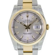 Rolex DATEJUST 36mm Steel & 18K Yellow Gold Silver Dial