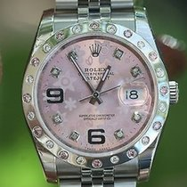 롤렉스 (Rolex) Datejust Mens Ladies 36mm Steel 116200 Diamond...