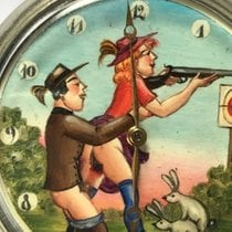 Doxa pocket watch with erotic scene on dial – from around...