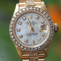Rolex Ladies 69178 President 26mm 18k Yellow Gold Diamond Band...