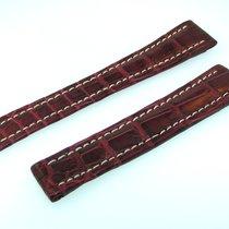 Breitling Band 16mm Croco Rot Braun Strap Für Faltschliesse...