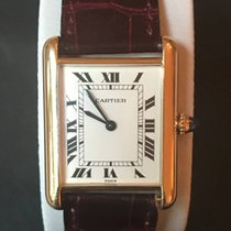 Cartier Tank Catrtier Paris Vintage 18k Massiv Gold with 18k...