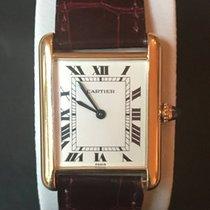 Cartier Tank Catrtier Paris Vintage 18k Massiv Gold with 18k...