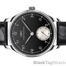 IWC Portuguese Hand Wound Black Dial Watch