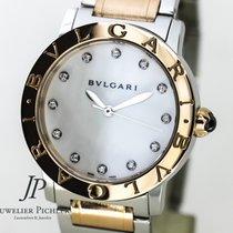 Bulgari , Steel & Rose Gold 33m MOP DIAMONDS