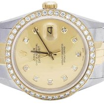 Rolex Mens Rolex 18K/ Steel Datejust Two Tone 36MM Quickset...