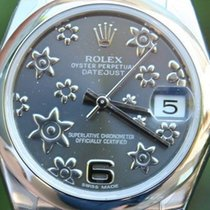 Rolex Steel Ladies Midsize Datejust Watch Warranty Box &...