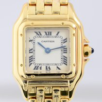Cartier Panthere Lady 18K Gold massiv Luxusuhr Klassiker roman...