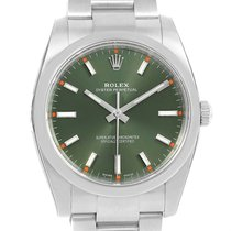 Rolex Air King Olive Green Dial Automatic Watch 114200 Unworn