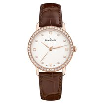 Blancpain Women Manual Wind Stainless Steel White Round Dial...