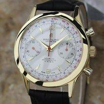 Breitling 60s Chronomat 217012 Solid 18k Gold Swiss Mens...