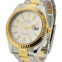 Rolex Used 116333_used_silver_stick Mens 2-Tone Datejust II...