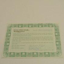 Rolex Warranty Certificate BLANK