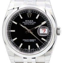 Rolex Datejust 36 116200-BLKSDJ Black Index Stainless Steel...