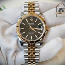 Rolex DateJust 41mm Black Dial Steel & 18K Yellow Gold 126333
