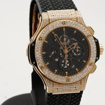 Hublot Aero Bang Skelleton Big Bang rose gold diamonds 44mm...