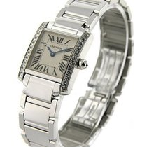 Cartier WE1002S3 Tank Francaise - Small Size in White Gold -...