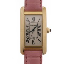 Cartier Tank Americaine Midsize Yellow Gold 18kt