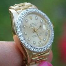 Rolex Ladies 18k Gold Datejust President Watch Yr 1980