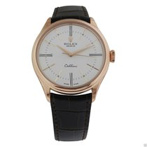 Rolex Cellini Time 50505 18k Rose Gold White Lacquer Dial
