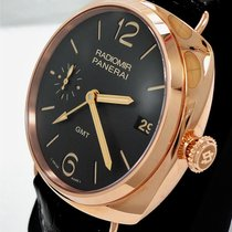 Panerai Radiomir 3 Days Gmt Pam421 18k Rose Gold Limited...