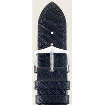 Hirsch Uhrenarmband Leder Highland schwarz L 04302050-2-26 26mm