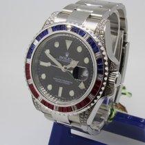 Rolex GMT Master Rubin Saphir Diamonds 116710LN Box Papiere