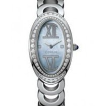 Corum 137.410.69/M251 Oval in White Gold with Diamond Bezel -...