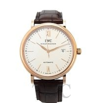 IWC Portofino Automatic Silver 18k red gold/Leather 40mm - IW356