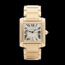 Cartier Tank Francaise 18k Yellow Gold Gents 1840 or W50001R2...
