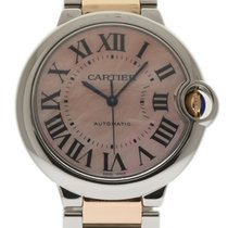Cartier Ballon Bleu 36mm W6920033 MOP Steel Gold Box/Paper/2Yr...