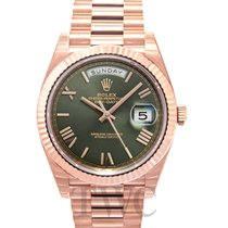ロレックス (Rolex) Day-Date 40 Olive Green/18k Rose Gold 40mm - 228235