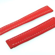 Breitling Band 15mm Kalb Rot Red Roja Calf Strap Für Faltschli...