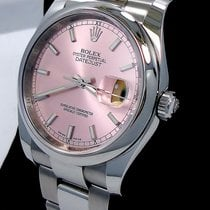 Rolex Datejust 116200 Ladies 36mm Oyster Perpetual Pink Stick...