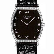 Longines La Grande Classique Tonneau 30 Diamond Black Dial Watch