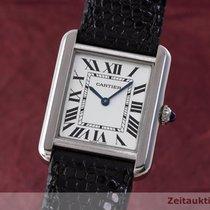 Cartier Lady Must De Tank Elegante Edelstahl Damenuhr Karrée