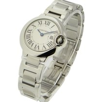 Cartier W69010Z4 Ballon Bleu in Steel - on Steel Bracelet with...