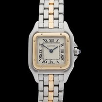 Cartier Panthere Stainless Steel & 18k Yellow Gold Ladies...