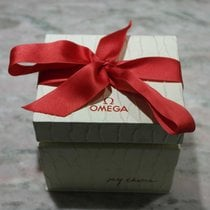 Omega vintage watch box lady white and red ribbon constellation