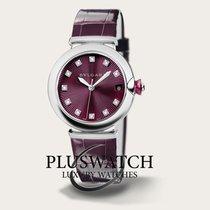 Bulgari Lucea Automatic 36mm Purple Dial Leather Strap  RO