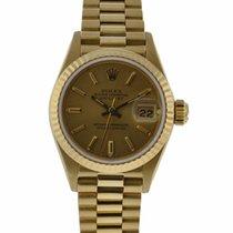 롤렉스 (Rolex) Oyster Perpetual Ladies 26mm Datejust 18kt Yellow...