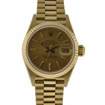 Rolex Oyster Perpetual Ladies 26mm Datejust 18kt Yellow Gold...