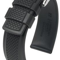 Hirsch Uhrenarmband Accent L schwarz 40478850-2-22 22mm