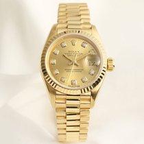 Rolex Lady DateJust 69178 Diamond Dial 18K Yellow Gold