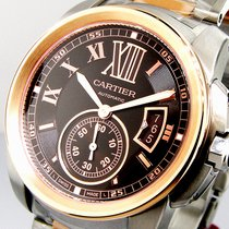 Cartier Calibre De Cartier W7100050 Chocolate Brown Pink Gold...