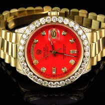 Rolex Mens 36 MM Rolex President 18038 18k Yellow Gold...