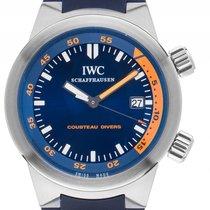 IWC Aquatimer Cousteau Divers Stahl Automatik Armband Kautschu...