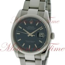Rolex Datejust 36mm, Blue Dial, Smooth Bezel - Stainless Steel...