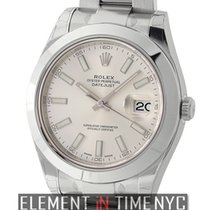 Rolex Datejust II Stainless Steel Silver Index Dial