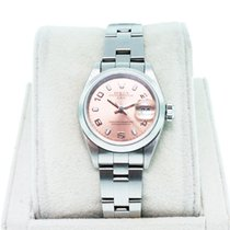 Rolex Date 79160 Ladies Stainless Steel with Salmon Dial Watch